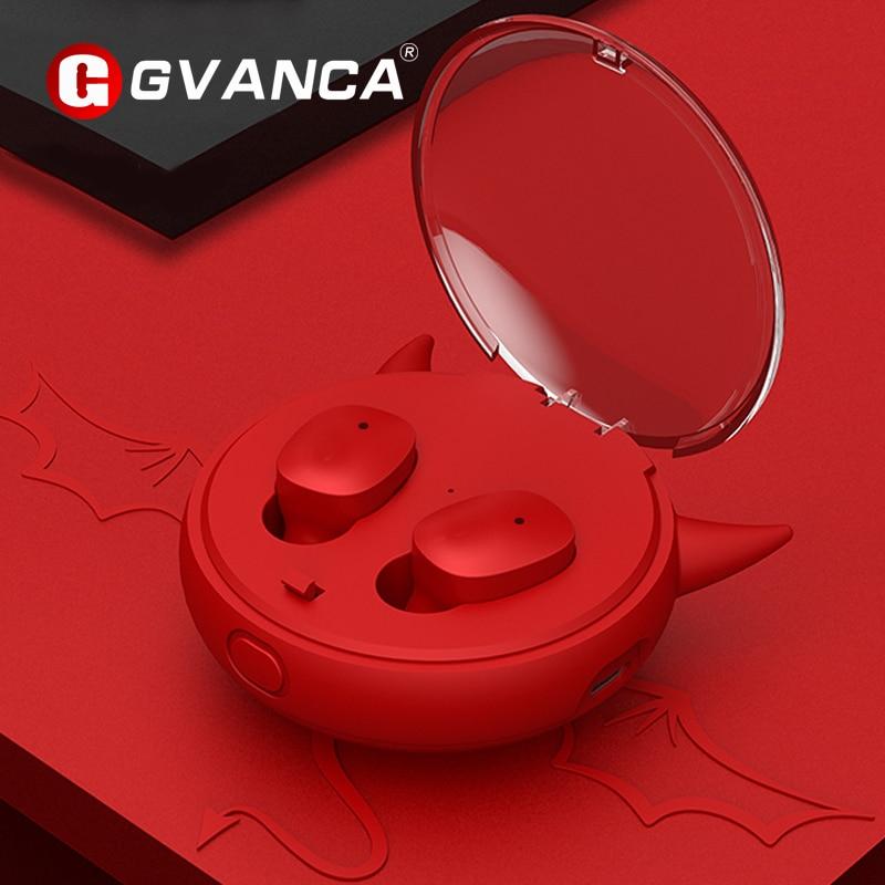 GVANCA I-10 TWS 5.0 Bluetooth Earphones Wireless Earphone HD Stereo Earbuds Intelligent Noise Canceling Headphones