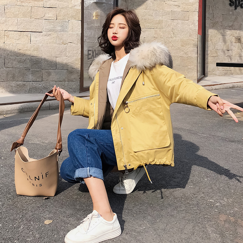 Winter Down Jacket Women 90% White Duck Down Coats Female Down Parka Real Fur Hooded Clothes 2020 Doudoune Femme LWL1290