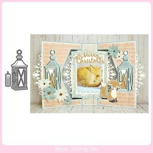 Światła i świece do cięcia metalu matryce do album na zdjęcia diy do scrapbookingu dekoracyjne wytłaczanie ręcznie robione kartki Die Cut 2019