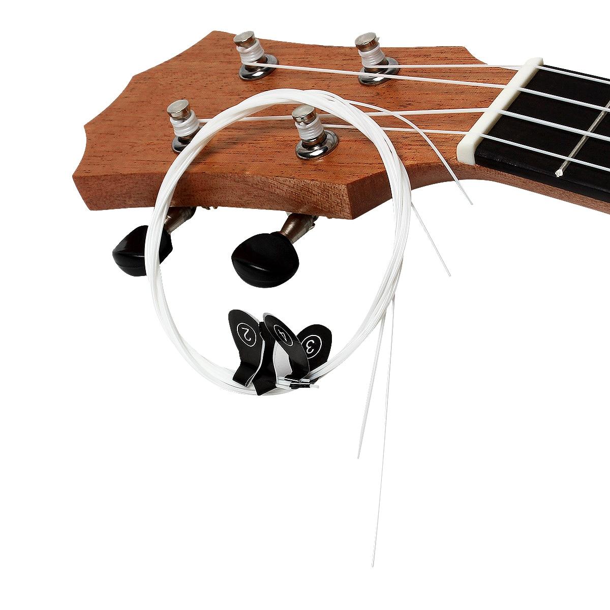4Pcs/Set Ukulele Strings White Nylon Hawaii Four Strings Guitar Ukelele 1st-4th Strings