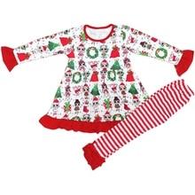 Children Boys & Girls Baby Clothes Sets, Infant Christmas Kids Clothing Set, Autumn Dresses + Pants Outfits