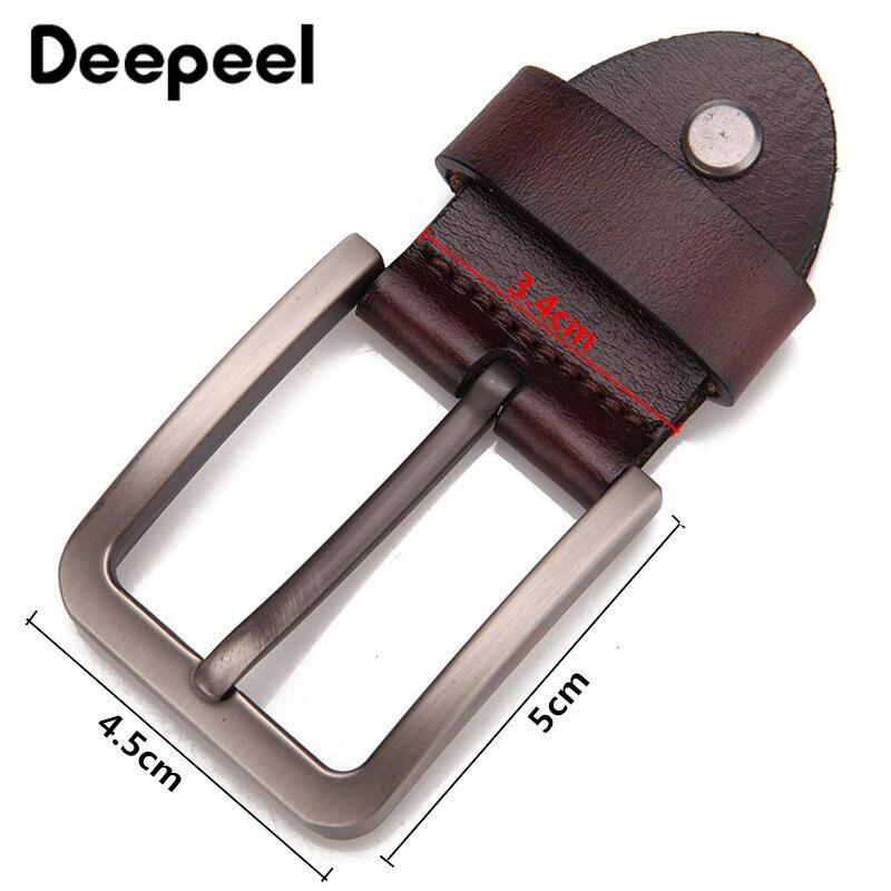 Deepeel 1pc 3.4/3.9cm High-grade Alloy Buckle Head DIY Handmade Leather Craft Decoration Pin Buckle head Men's Belt Buckle YK006
