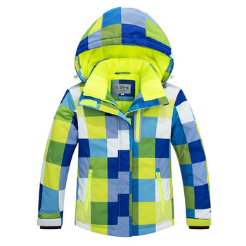 -30 Parka dziecięca odzież narciarska gilrs i Parka dziecięca odzież narciarska gorący wodoodporny płaszcz zimowy tanie i dobre opinie Pasuje prawda na wymiar weź swój normalny rozmiar Dziewczyny Odwracalne W paski COTTON