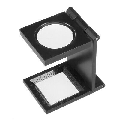 8X 27mm Three-Folding 8X Magnifier Glass with Scale for Textile Jewelry Tool