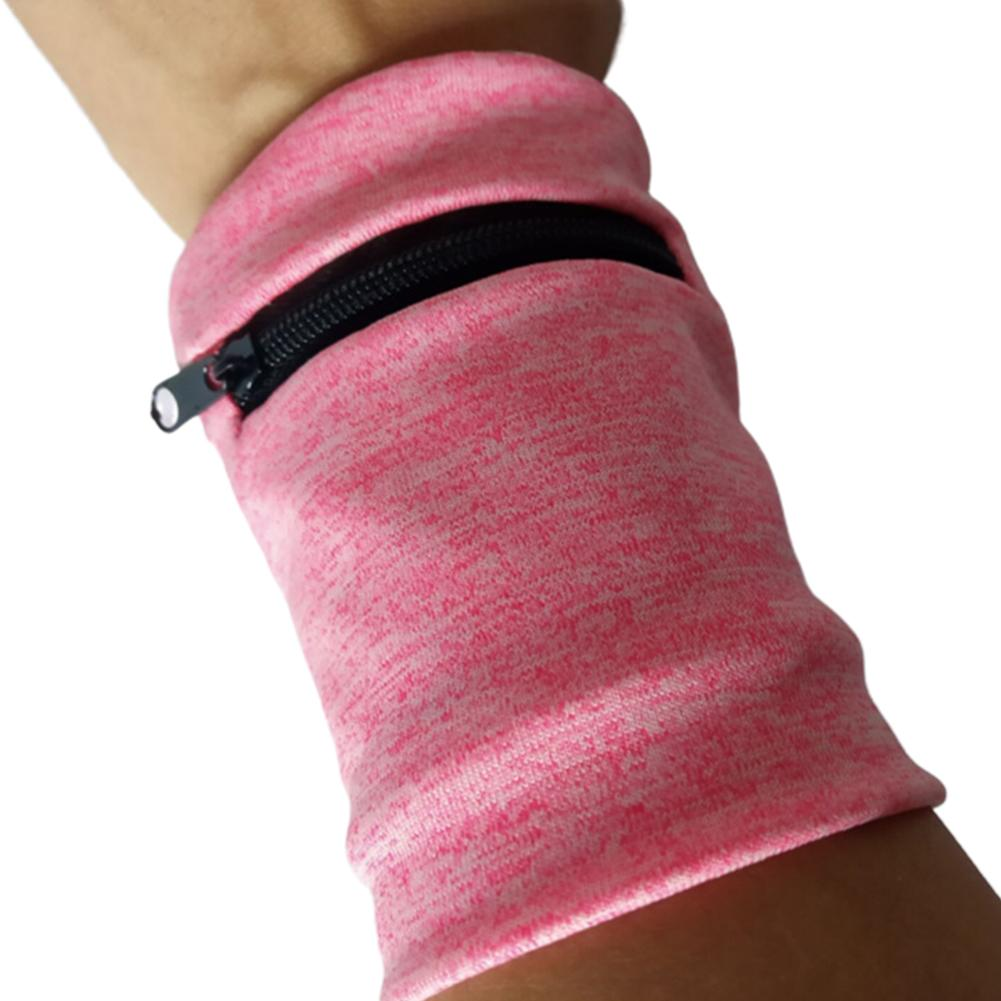 Multifunction Wrist Bag Cycling Running Key Bag Breathable Sweat-absorbent Wallet Wristband With Zipper For Basketball Tennis