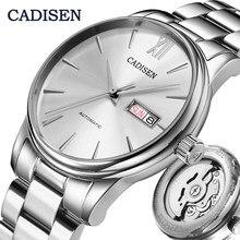 CADISEN – montre mécanique automatique pour hommes, Date de la semaine, à la mode, marque de luxe japonaise, mouvement NH36A