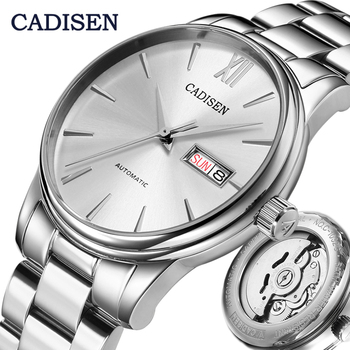 CADISEN Mens Watch Automatic Mechanical Week Date Fashione Business luxury Brand Japan NH36A Movement Watches Relogio Masculino - discount item  45% OFF Men's Watches