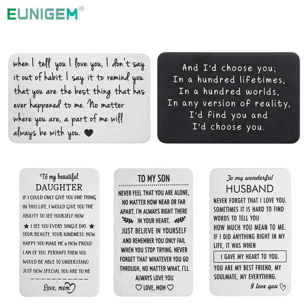 Gift For Family Wallet Insert Card For Men Husband Wife Girlfriend Boyfriend Birthday Gifts For Him For Boss Dad Son Daughter Key Chains Aliexpress