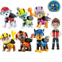 7Pcs Paw Patrol Anime Dog toys Puppy Car Patrulla Canina Action Figure Original Pelucia Toys For Kids children Gift