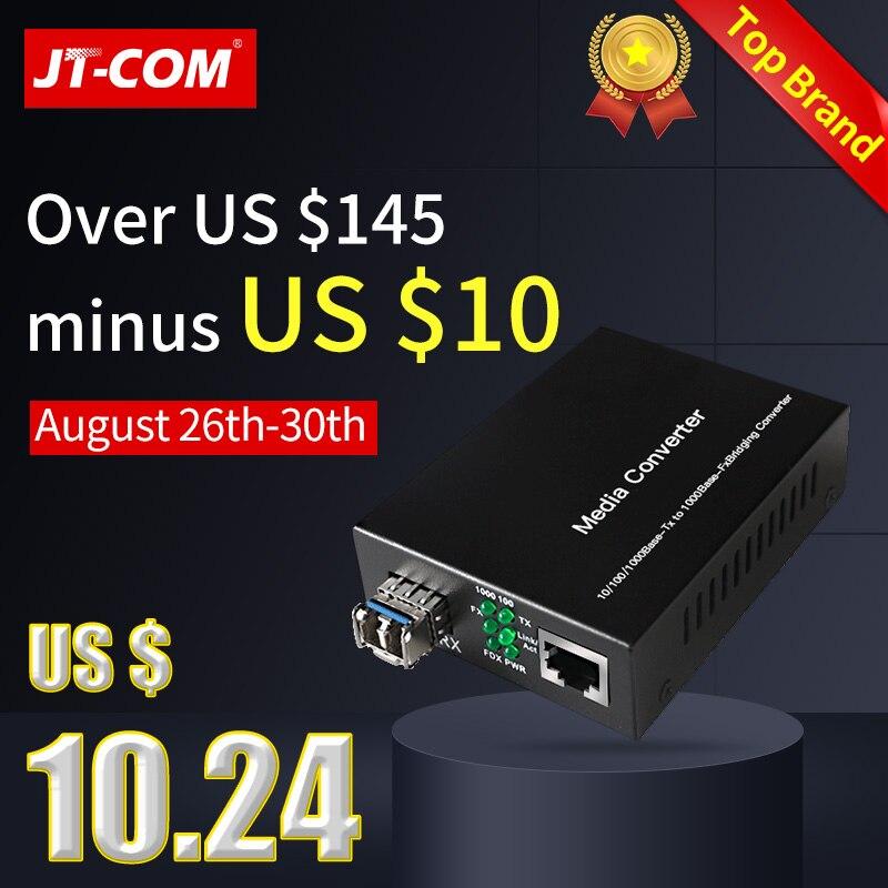 1 par = 2pcs Gigabit SFP Conversor de Mídia Óptica 1000Mbps Fibra Optica Fibra para RJ45 Interruptor Transceptor com módulo SC/LC