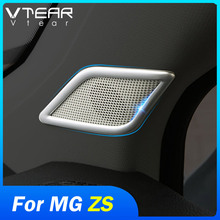 Vtear for MG ZS car covers speaker sound ring trim cover stainless steel accessories decoration interior parts moulding auto