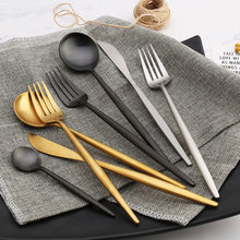 Tableware set 304 stainless steel flatware 1/6/8//12/24/48 pcs