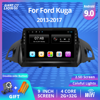 2DIN Android 9.0 Car Radio For Ford Kuga Escape 2013 2014 2016-2017 Car Multimedia Player Navigation GPS 2 Din Car DVD Player ectwodvd wince 6 0 car multimedia player for kia sorento 2013 2014 2015 2016 car dvd auto video player gps navigation radio