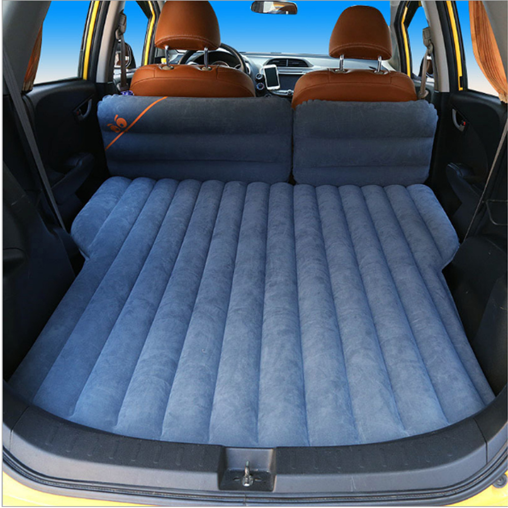 Car Special Inflatable Mattress Flocking Car Bed SUV Multi-Function Automatic Inflatable Bed Soft Sleeping Pad Bed For Camping