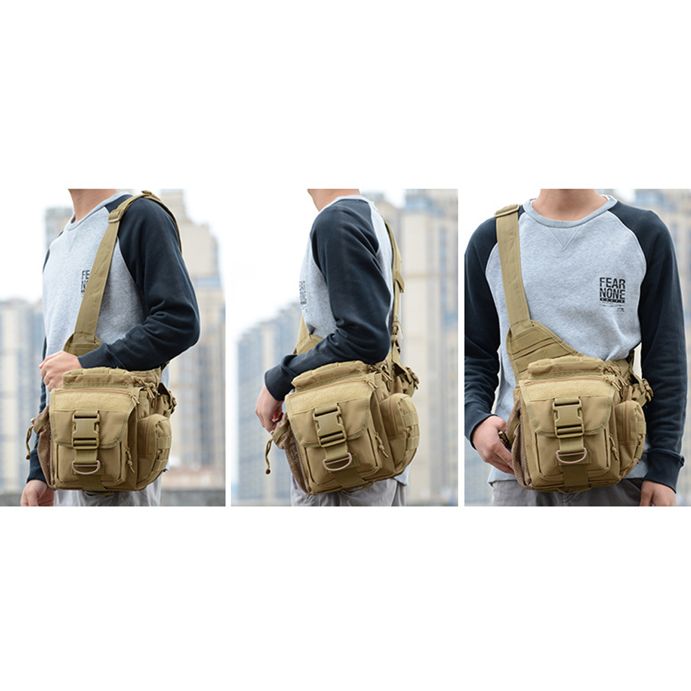 Outdoor Shoulder Bag Military Tactical Sling Backpack Army Climbing Camping Hiking Saddle Bag Crossbody Camera Bag Hunting Bag