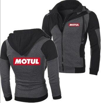 2018 invierno moda MOTUL Motor aceite logo Hoodie hombres cremallera Cardigan hombres Hoodie sudaderas Casual abrigo camisetas K
