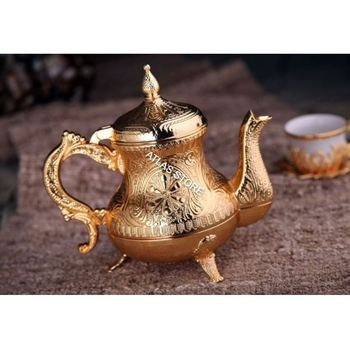 Turkish Gold Color Cups Portable Double Wall Cup Travel Glass Coffee Milk Cup Tea Cup Coffee Jug