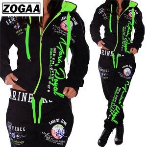 Image 5 - ZOGAA Mode Trainingsanzug Für Frauen frauen Casual Sportwear Mit Kapuze Sweatshirt und Hosen frauen Anzug frauen zwei stück outfits