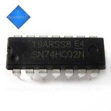 10 pçs/lote SN74HC02N 74HC02N 74HC02 DIP-14 Em Estoque
