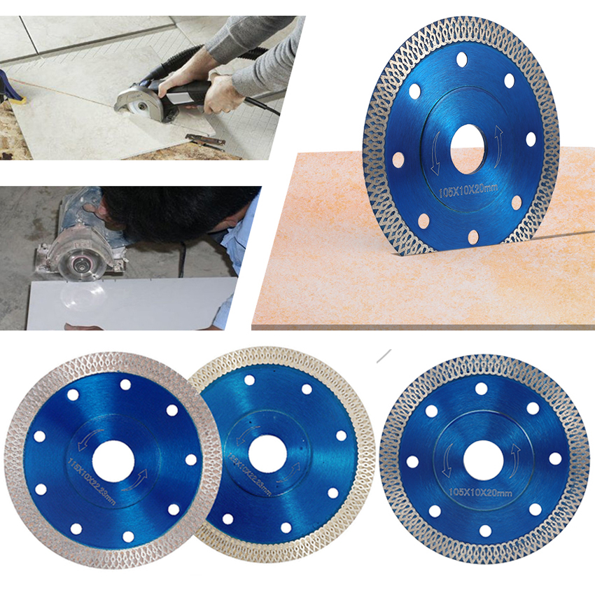 Wave Style Diamond Saw Blade For Porcelain Tile Ceramic Dry Cutting Aggressive Disc Marble Granite Stone Saw Blade 105/115/125mm