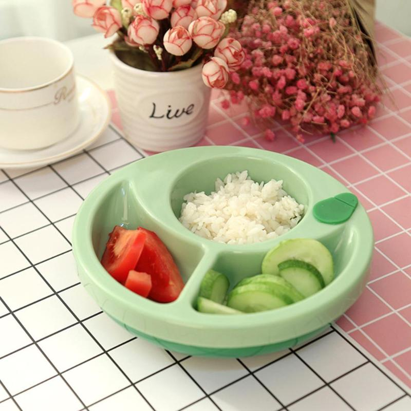 Baby Insulation Bowl Silcone Suction Non-slip Kids Food Warming Container Plate Lightness And Portability No Space Occupy