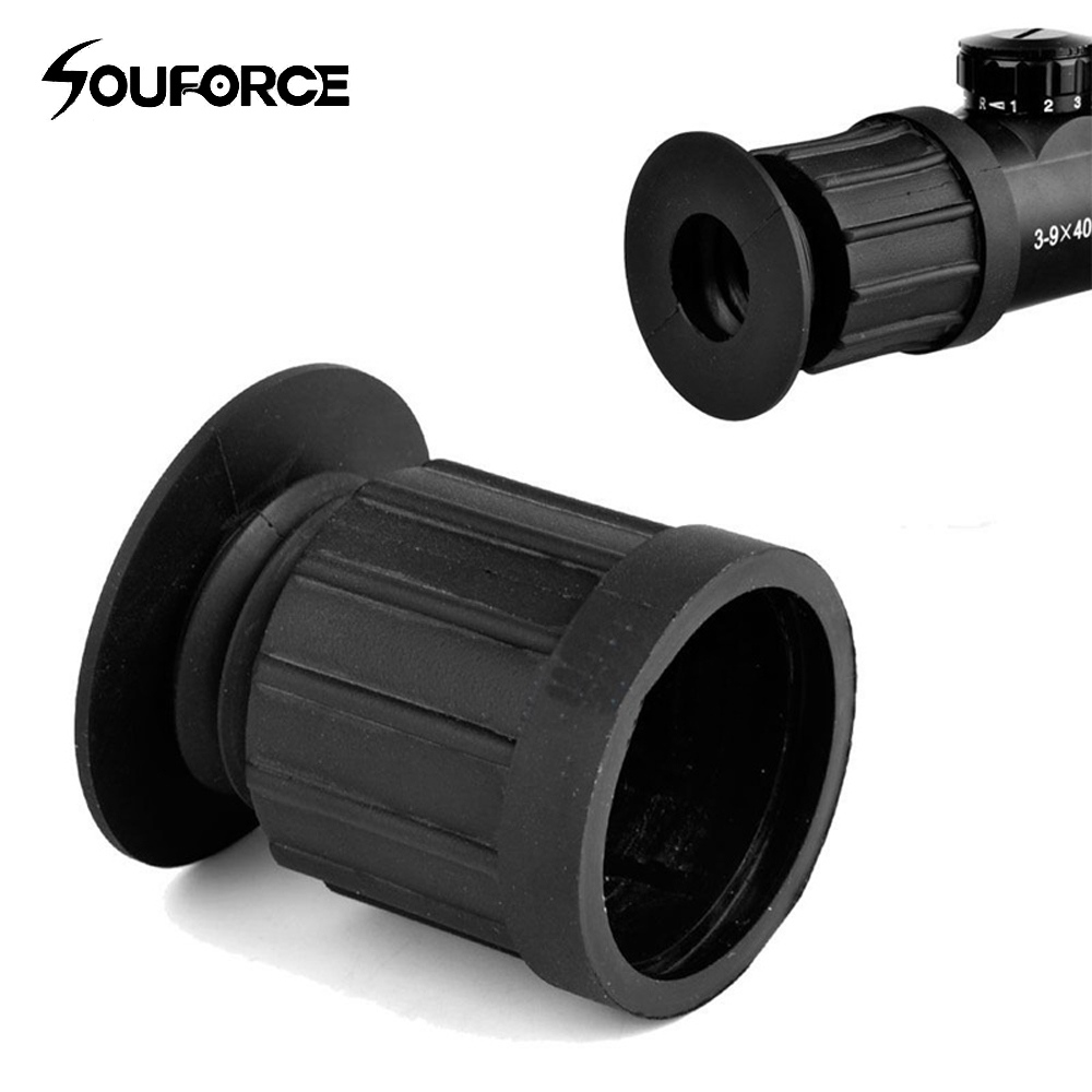 60 mm&40 mm Scope Lens Cover Black Rubber 40 mm Ocular Eye Protector Extender For Outdoor Hunting Rifle Scope(China)
