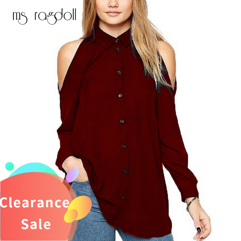 Long Sleeve Off Shoulder Shirt Womens Tops And Blouses Plus Size Clothes Chiffon Blouse Summer Top Camisetas Mujer Streetwear