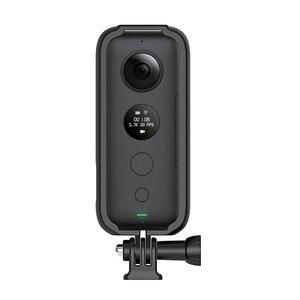 Image 2 - מגן מסגרת גבול קסדת אופנוע סוגר עבור Insta 360 אחד X מצלמה אביזרי הר מסגרת מחזיק לgopro ממשק