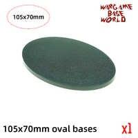 wargame base world -105 x 70mm oval bases for Warhammer