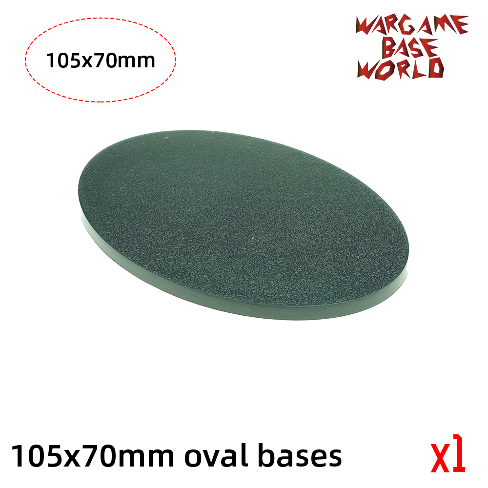 Wargame Base World -105 X 70mm Oval Bases For Warhammer