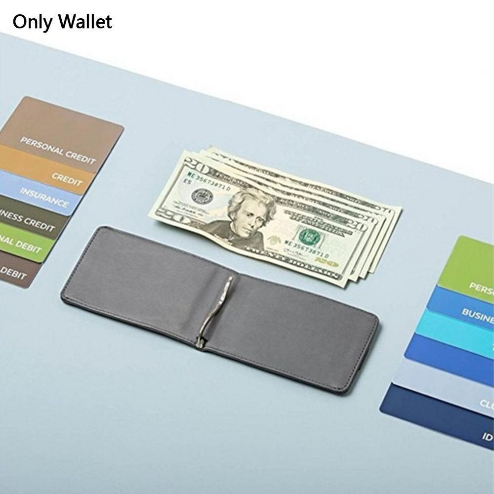 1pc Handmade RFID Blocking Geniue Leather 12 Cards & 30 Bills - Slim Pull-Out Wallet