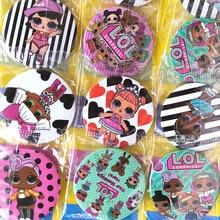 Значок куклы LOL surprise lol, украшения на день рождения, Детские Аниме фигурки, Мультяшные маленькие Значки для одежды, вечернего платья для маль...