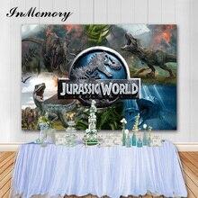 Inmemory Jurassic Park Fotografische Achtergrond Dinosaurus Jongen Verjaardagsfeestje Achtergronden Foto Booth Props Taart Tafel Decoratie