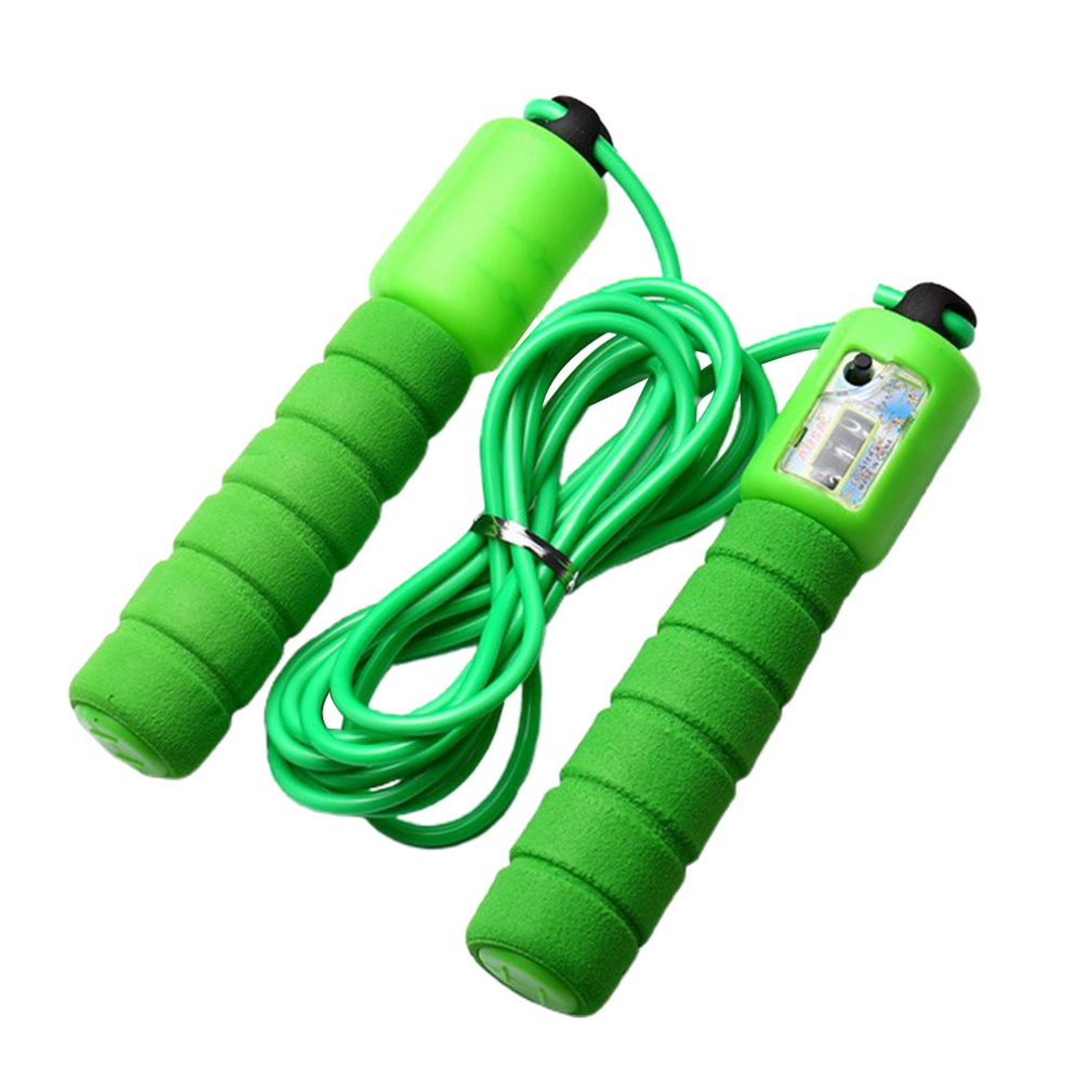 Adult Figure Skipping Length Can Be Adjusted Automatic Counting Meter Flexible Soft Plastic Rope 1 Pcs