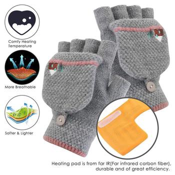 savior heating gloves thickened battery heating warm outdoor gloves motorcycle gloves shatter resistant gloves shell Men's and women's safety heating gloves hand warmers laptop gloves fingerless warm electric gloves heating half winter S6X5