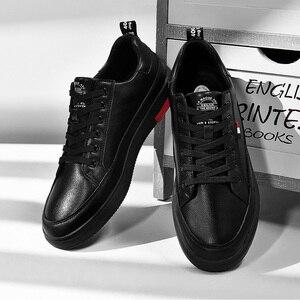 Image 1 - SUROM יוקרה מותג מקרית גברים נעלי עור תחרה עד אופנה קלאסי שחור לבן סניקרס גברים רשת לנשימה Zapatos דה Hombre
