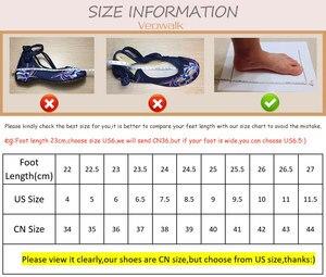 Image 5 - Veowalk Vegan Handmade Women Linen Cotton Slip on Loafers Espadrilles Bohemian Style Ladies Casual Flat Platform Sneaker Shoes