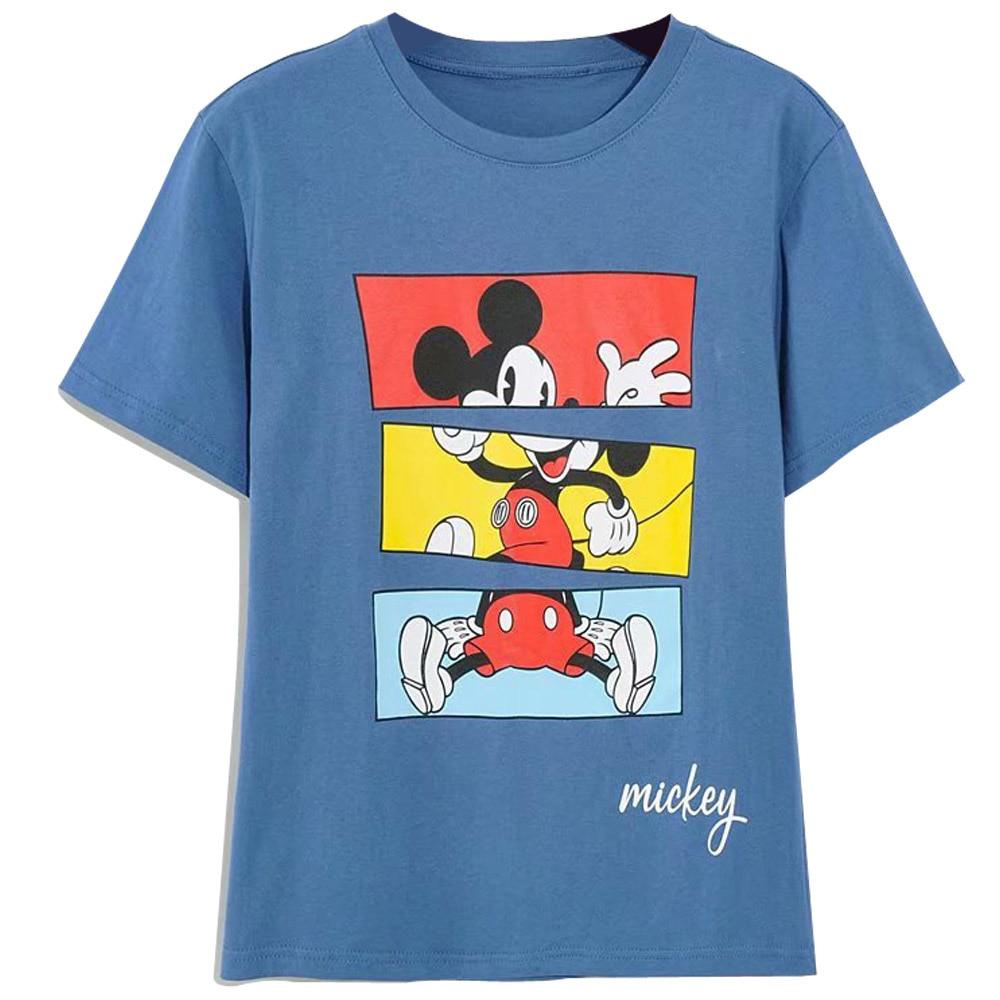 H07356321e4454b979e72c300333b52d9z Disney Family T-Shirt Fashion Winnie the Pooh Mickey Mouse Stitch Fairy Dumbo SIMBA Cartoon Print Women T-Shirt Cotton Tee s