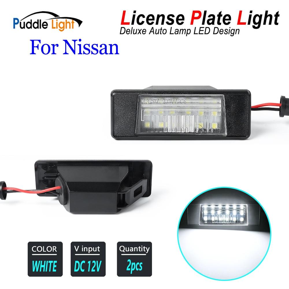 2 шт. Ошибок Белый светодиодный лицензии на полиуретановом ремешке пластина светильник для Nissan Qashqai j10 11Infiniti Q50 Primera P12 Teana 32 Pathfinder R51