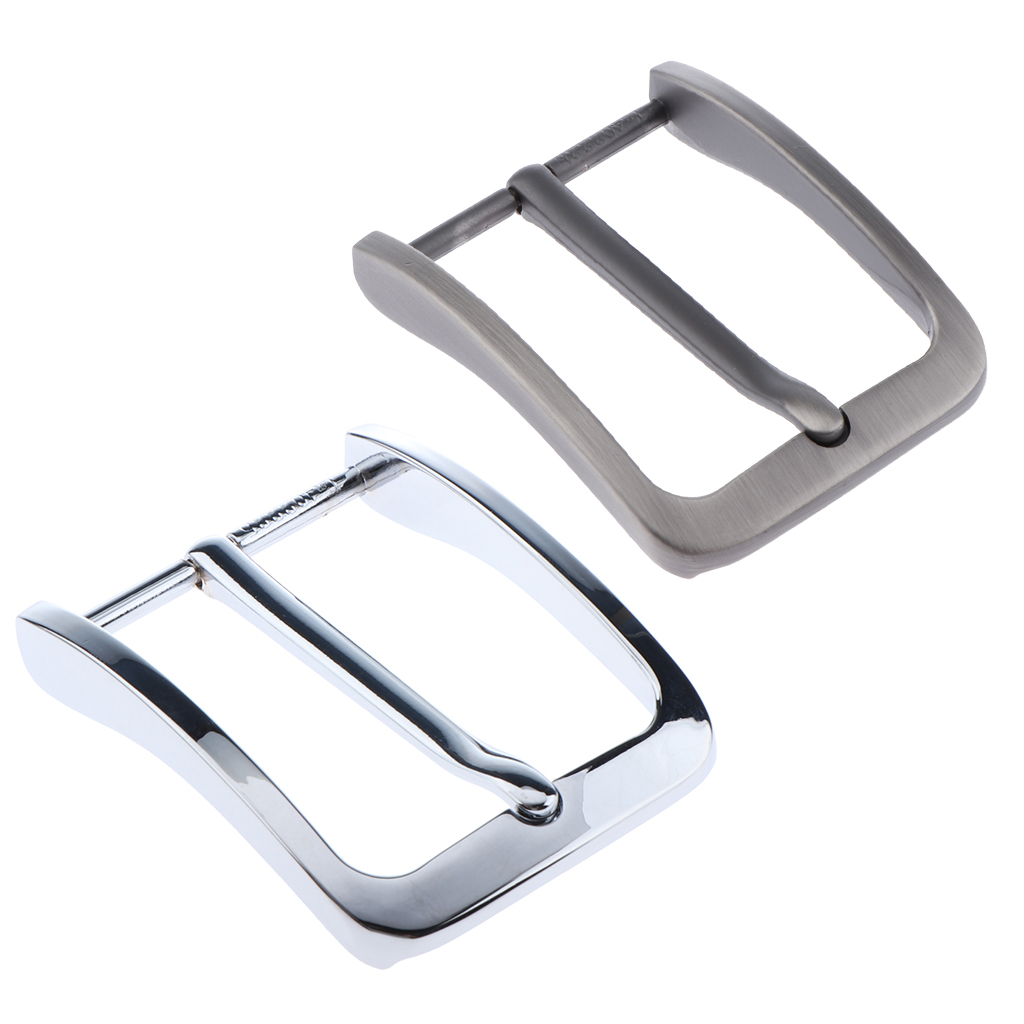 2pcs Mens Retro Metal Alloy Belt Buckle Replacement Antique Pin Buckle Rectangular