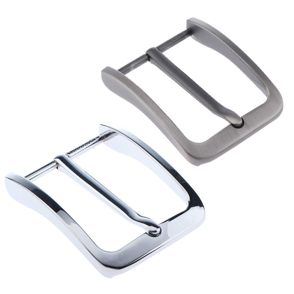 2 Pieces Mens Alloy Antique Belt Buckle Single Prong Rectangular Pin Buckle Replacements 65 mm