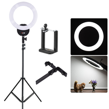 """FalconEyes – anneau lumineux 16 """", 55W, 5600K, pour Studio photo, vidéo, Portrait, avec filtre blanc, support de lumière"""