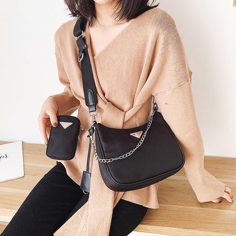 Women Crossbody Bag Causal Luxury Handbags Women Bags Designer With Mini Pocket Luxury Brand Female Shoulder Messenger Bag
