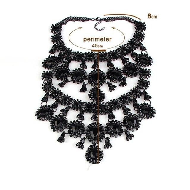 женское многослойное ожерелье стразы массивное ожерелье чокер фотография