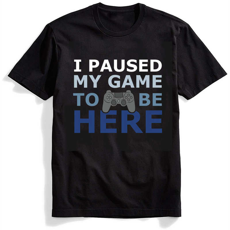 i paused my game playstation videogame ps4 Female T-Shirt Summer 90s Funny Women Plus Size Fashion Clothes Harajuku Men T-Shirts