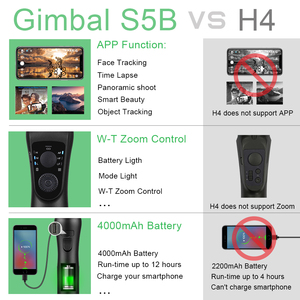 Image 5 - Keelead Gimbal Stabilizer S5B 3 Axis Bluetooth Handheld Met Focus Pull Andzoom Voor Telefoon Xs Xr X 8 Plus 7 Actie Camera