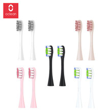 Original Oclean Replacement Brush Heads for Oclean Z1 X SE Air One Automatic Sonic Toothbrush Deep Cleaning Brush Head 2PCS