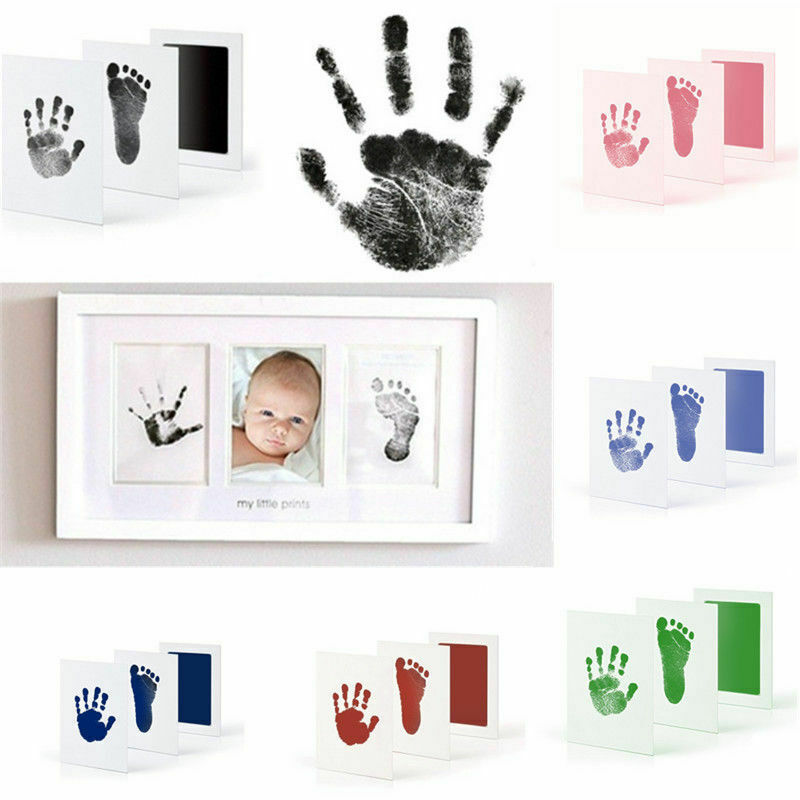 New Baby Paw Print Pad Foot Photo Frame Touch Ink Pad Baby Items Souvenir Gifts 1 Printing Oil +2 Sheets Of Paper