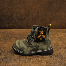 2019 New kids boots shoes for boys girls children martin army sneaker baby winter flat