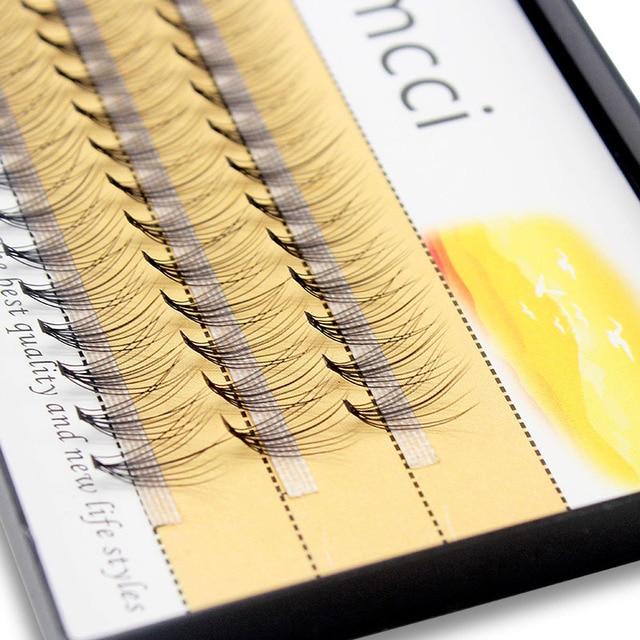 Kimcci 60knots/Case Natural False Eyelash Extension Makeup 10D Mink Individual Faux Eye Lashes Professional Fake Grafting Cilias 1